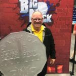 Mayor Bigger wields the shield.